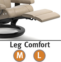 Stressless Consul LegComfort Power Extending Footrest with Wood Base