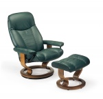 Stressless Consul Recliner chair and Ottoman by Ekornes