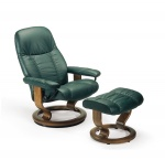 Stressless Diplomat Recliner chair and Ottoman by Ekornes